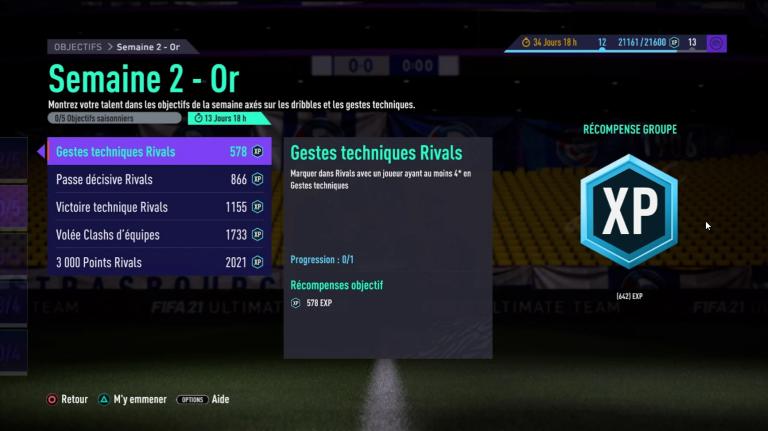 FIFA 21, FUT : défis hebdomadaires semaine 2, saison 1, notre guide