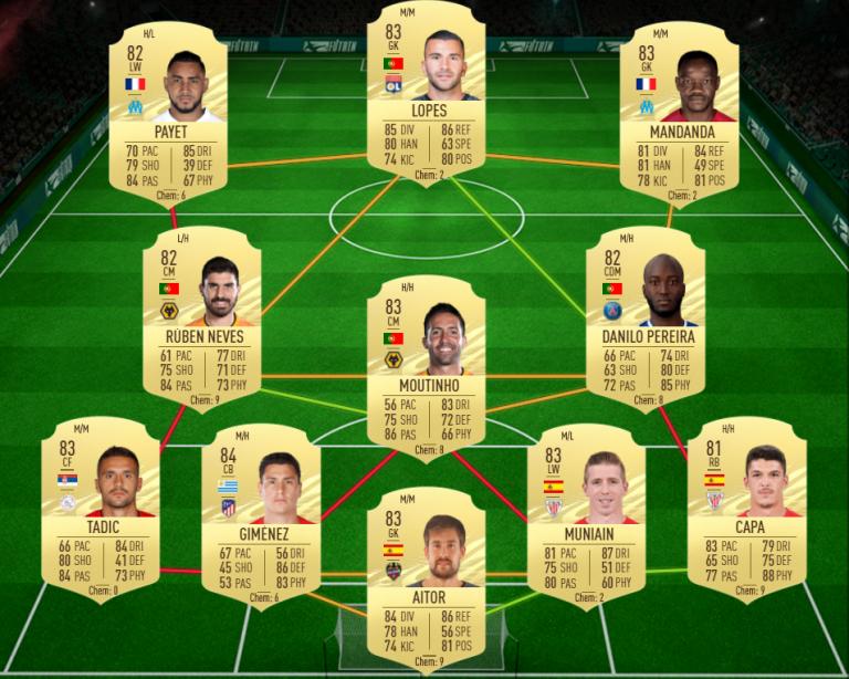 FIFA 21, DCE : OTW Blaise MATUIDI, solution du défi création d'équipe