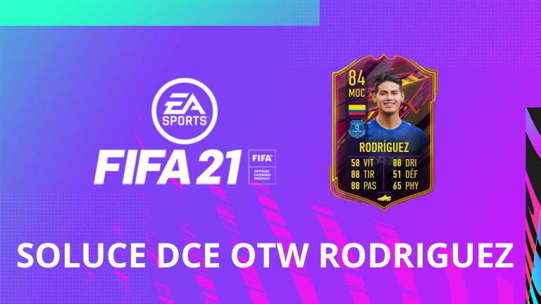 FIFA 21, DCE : OTW James RODRIGUEZ, solution du défi création d'équipe