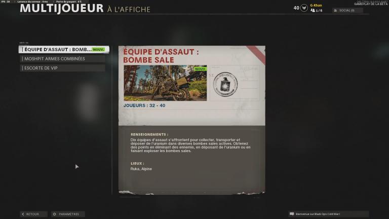 """Le nouveau mode """"Équipe d'assaut : bombe sale"""""""