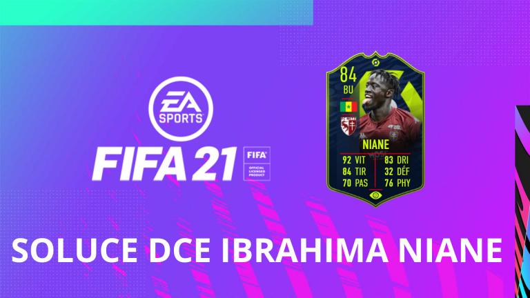 FIFA 21, DCE Ibrahima NIANE, joueur du mois Ligue 1 : solution du défi création d'équipe FUT