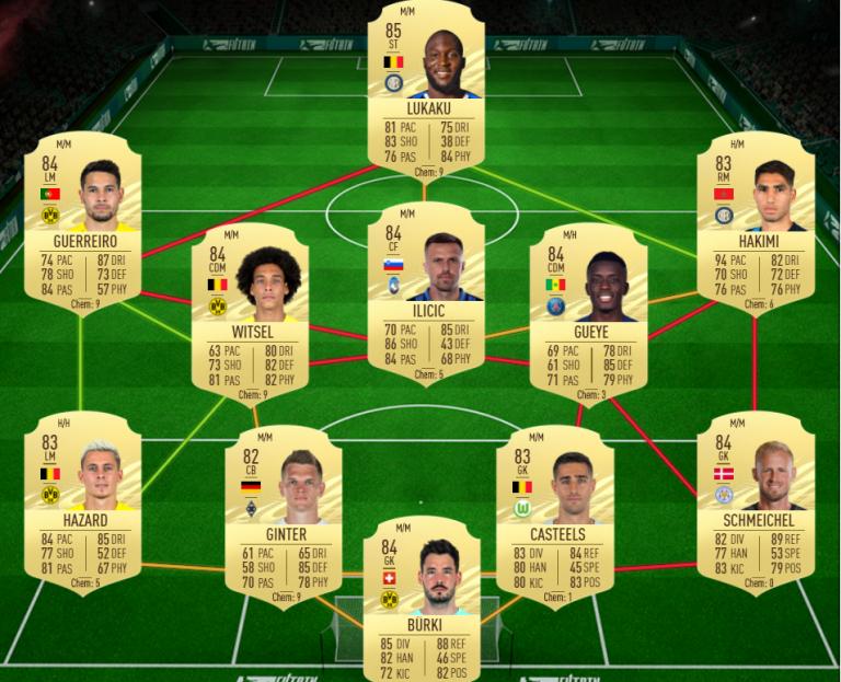 FIFA 21, DCE flashback Laurent KOSCIELNY : solution du défi création d'équipe FUT