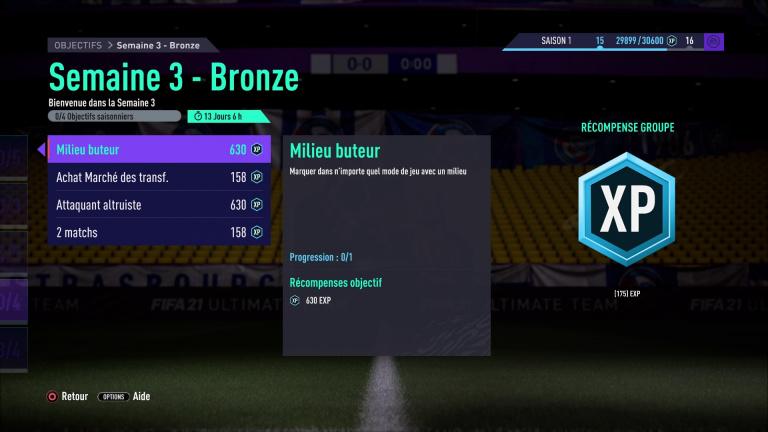 FIFA 21, FUT : défis hebdomadaires semaine 3, saison 1, notre guide