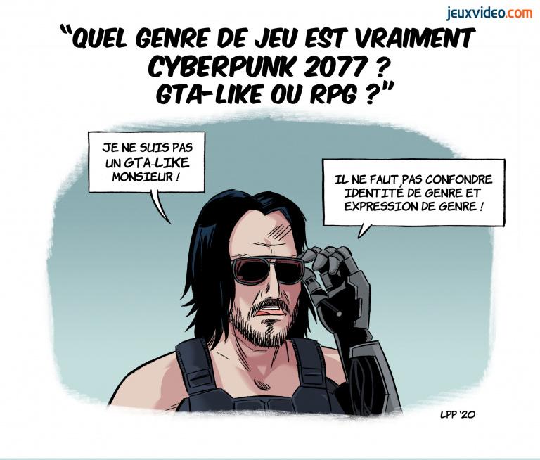 "Billet: ""Cyberpunk 2077 et GTA: CD Projekt reproduit l'ambiguïté"""
