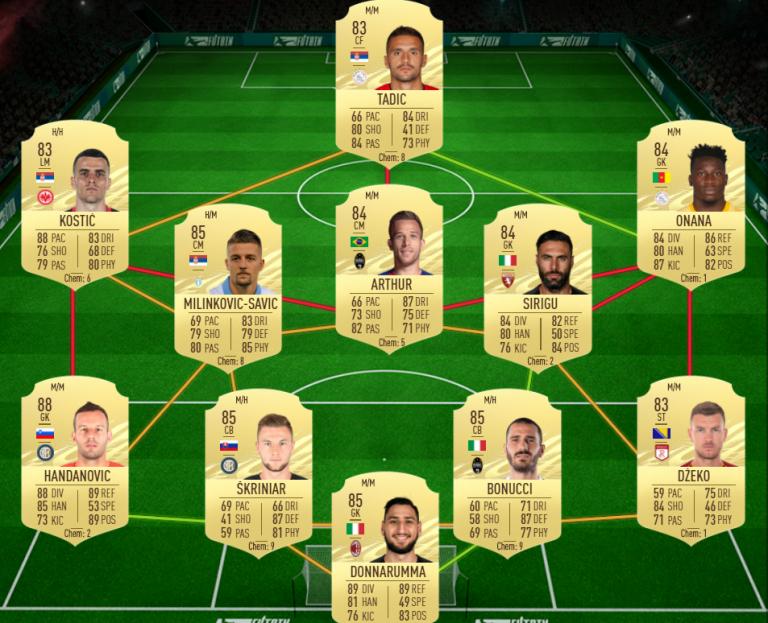 FIFA 21, DCE : Anderson Talisca, Rulebreakers, solution du défi création d'équipe