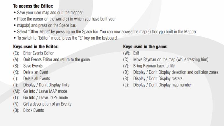 Liste des raccourcis claviers