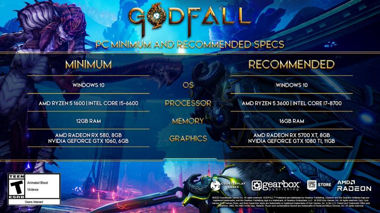 Godfall dévoile ses configurations Minimum et Recommandée sur PC