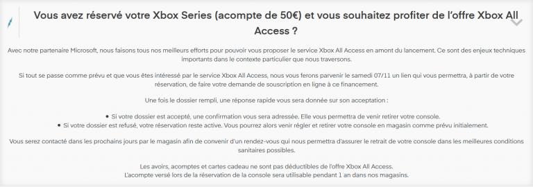 Xbox All Access : Micromania proposera l'offre en ligne pour ceux qui ont réservé en magasin