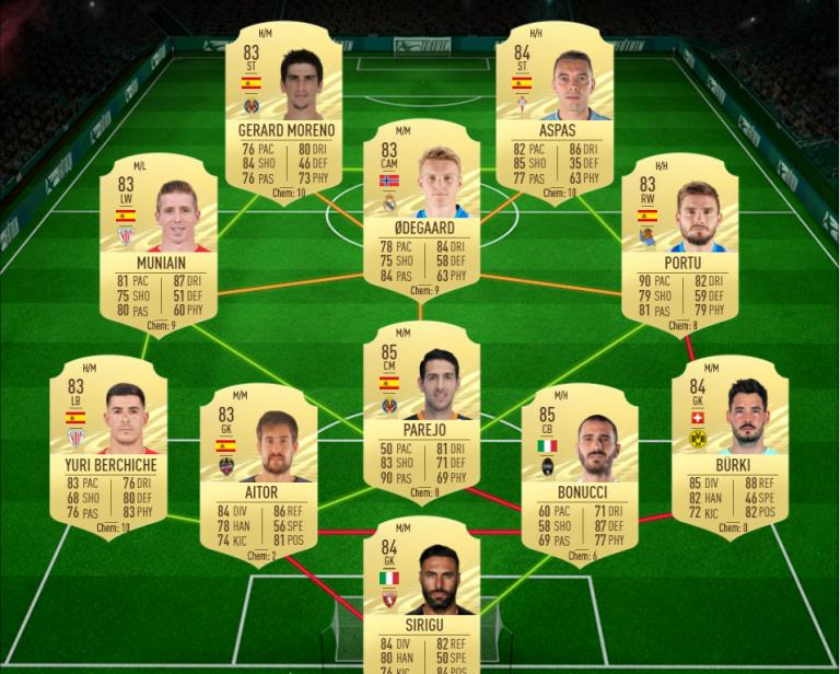 FIFA 21, DCE : Emil FORSBERG, Moments joueur, solution défi création d'équipe