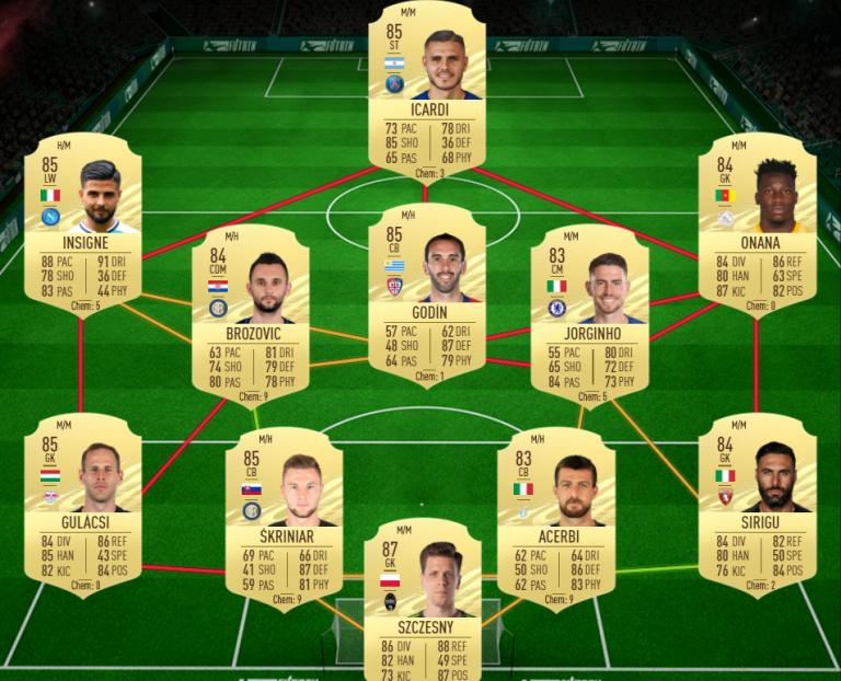 FIFA 21, DCE : Mason MOUNT, RTTF, solution du défi création d'équipe