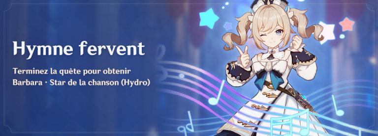 Genshin Impact, un personnage offert avec la mise à jour 1.1, comment l'obtenir ?