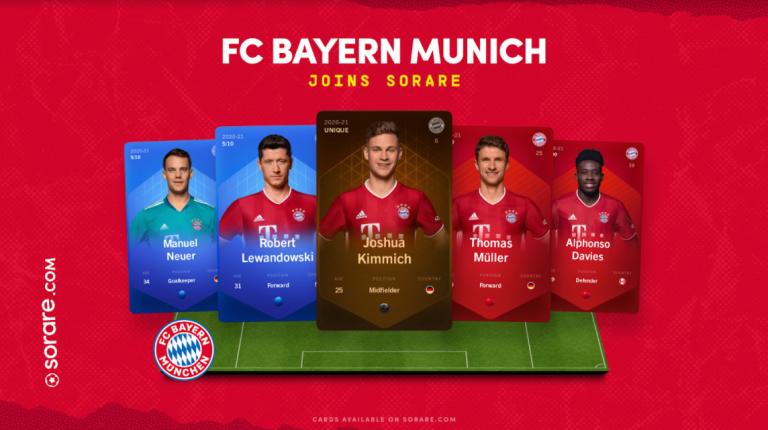 Sorare accueille le FC Bayern Munich dans ses rangs