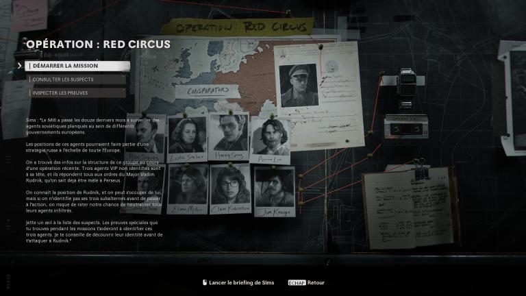 Opération Red Circus : Trouver les trois espions