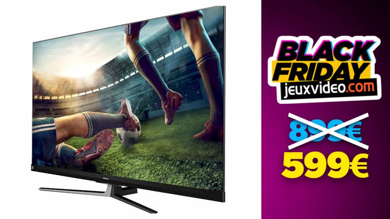 TV Hisense QLED 4K 100Hz avec 200€ de réduction en ODR avant le black friday