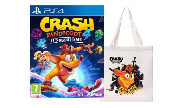 Crash Bandicoot 4 : It's About Time et son Tote Bag offert sur Fnac avant le Black Friday