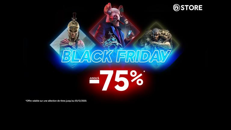 Ubisoft Store :  jusqu'à -75% avec la promotion Black Friday