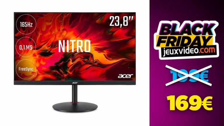 """Black Friday : Ecran Gaming Acer 23.8"""" LED Nitro XV240Y à -18% chez LDLC"""