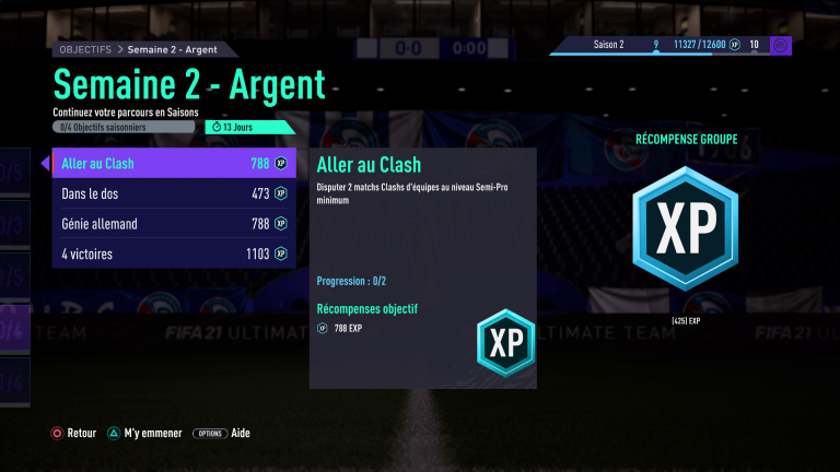 FIFA 21, FUT : défis hebdomadaires semaine 2, saison 2, notre guide