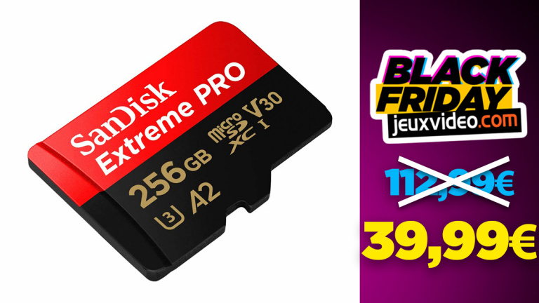Black Friday : La carte mémoire Micro-SD Sandisk Extreme Pro 256 Go + adaptateur SD à 39,99€ chez Amazon