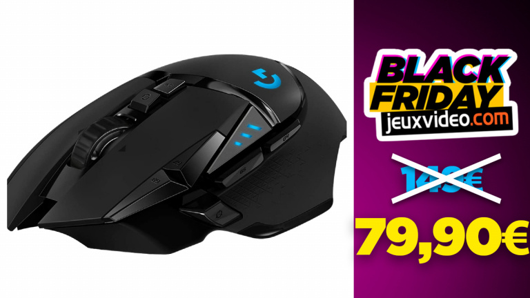 Black Friday : La souris sans-fil Logitech G502 Hero Lightspeed à -46% sur Amazon