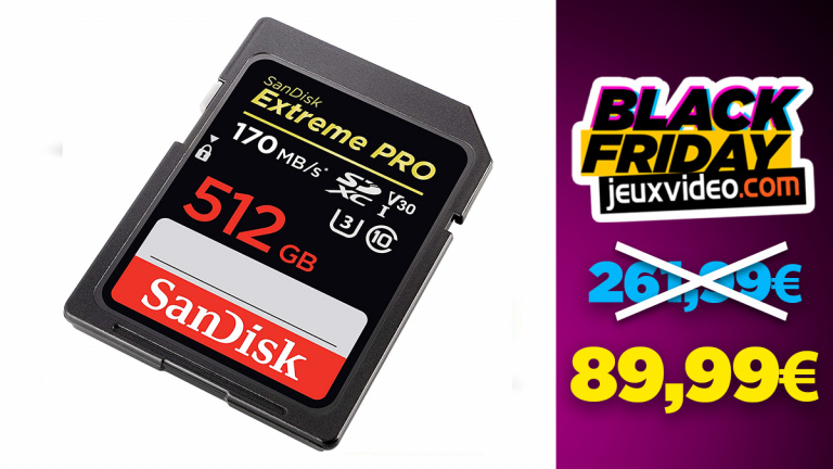 Black Friday : La carte SD SanDisk Extreme Pro 512 Go à -66% sur Amazon