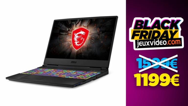 Black Friday : Le PC portable MSI GL65 avec RTX 2070 à moins de 1200 € chez Rue du Commerce