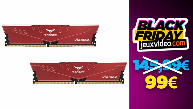Black Friday : La RAM Vulcan Z 2x16 Go, DDR4 à -32% chez Rue du Commerce