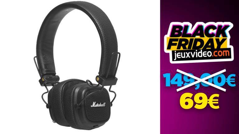 Black Friday : Le casque Marshall Major III Bluetooth Noir à moitié prix chez Boulanger
