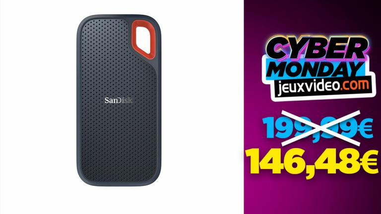 Cyber Monday : Le disque dur externe SanDisk Extreme 1 To à 146,48 € sur Amazon