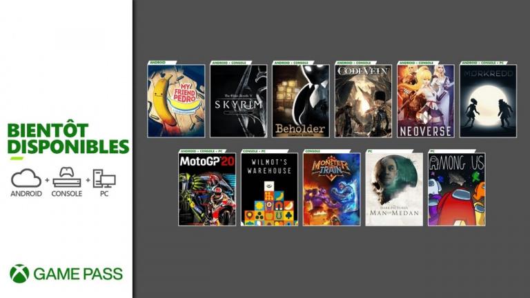 Xbox Game Pass : les prochains ajouts et retraits de décembre (Skyrim, Among Us, Code Vein...)