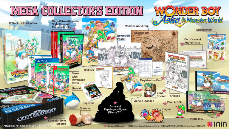 Wonder Boy: Asha in Monster World montre ses éditions physiques
