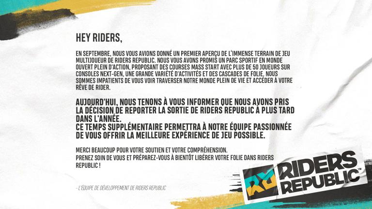 Riders Republic - La production next-gen repousse sa date de sortie