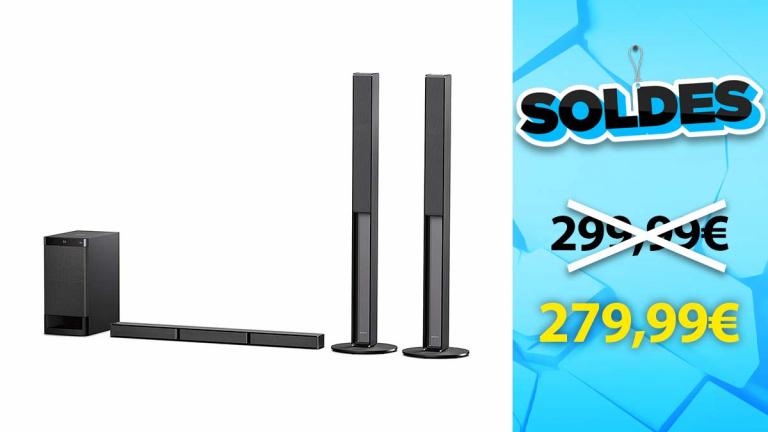Soldes Sony : Barre de son 5.1 avec enceintes colonnes en promotion