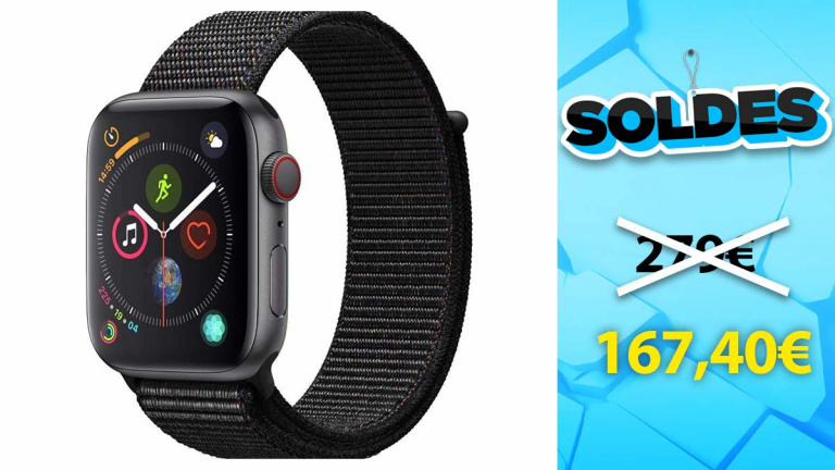 Soldes Apple : L'Apple Watch Series 4 en réduction de 40%
