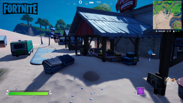 Fortnite Season 5 Daily Quest: Destroy Crates of Apples and Tomatoes at the Orchard Farmer's Market