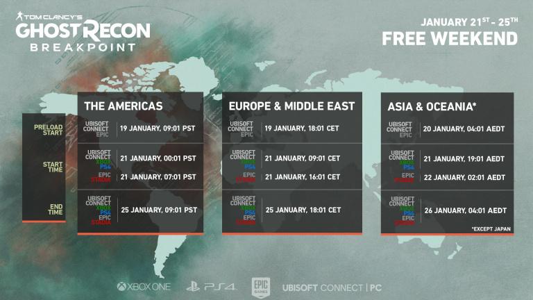Ghost Recon Breakpoint est jouable gratuitement jusqu'au 25 janvier