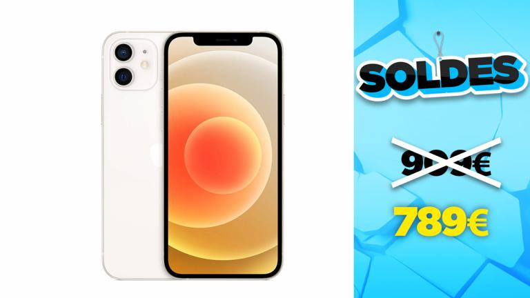 Promotion Apple : iPhone 12 Blanc 64Go en réduction à 789€