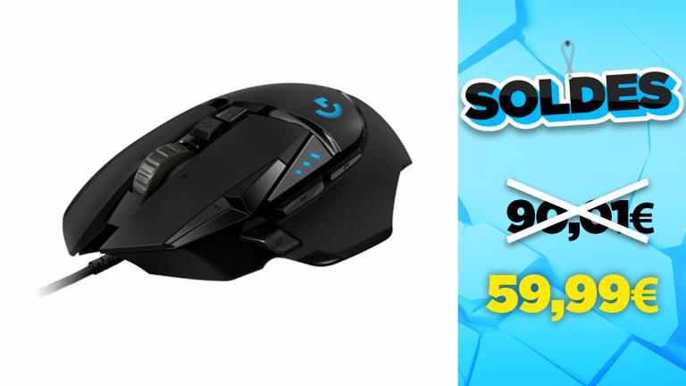 Soldes Logitech : la souris G502 Hero Noir en réduction à -33%