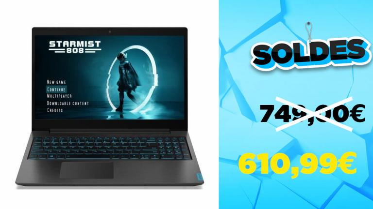 Soldes Lenovo Ideapad L340 à 610,99€ avec le code TRENTEEUROS