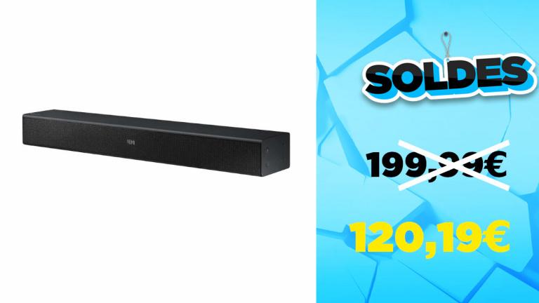 Soldes Barre de son Samsung HW-N400 à -40% soit 120,19€