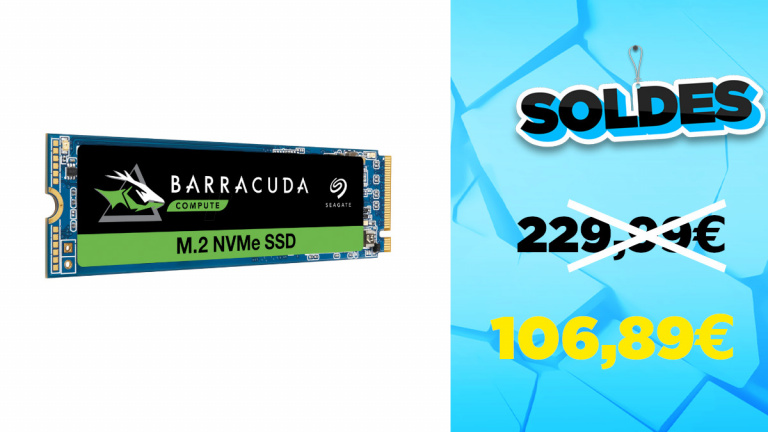 Soldes SSD interne M.2 NVMe 1 To à 106,89€ avec le code BIENVENUE