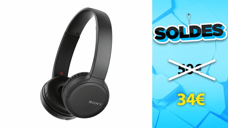 Soldes Sony : Casque audio WH-CH510 en promotion de 30%