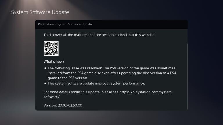 PS5 - La dernière mise à jour corrige le problème de mise à niveau d'un disque PS4