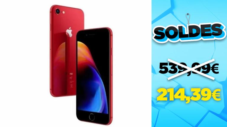 Soldes Apple : l'iPhone 8 64Go Rouge Mat en réduction à -60% - jeuxvideo.com