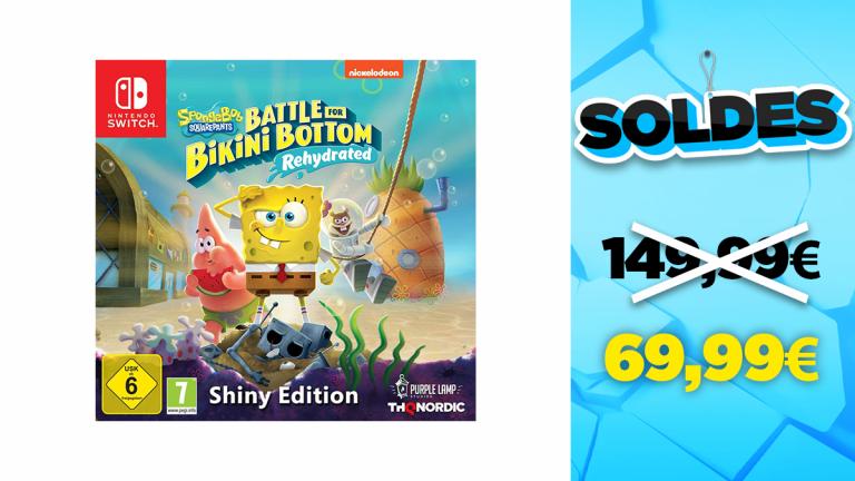 Soldes Nintendo : l'édition Shiny du jeu Bob l'Eponge en réduction à -53%