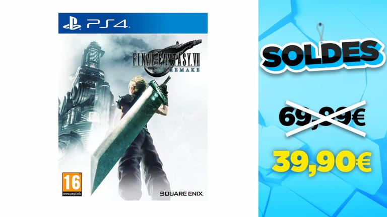 Soldes PS4 : FFVII Remake en réduction à -43%