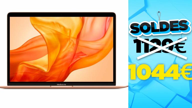 Soldes 2021 : Réduction de prix sur le MacBook Air avec processeur M1 couleur Or