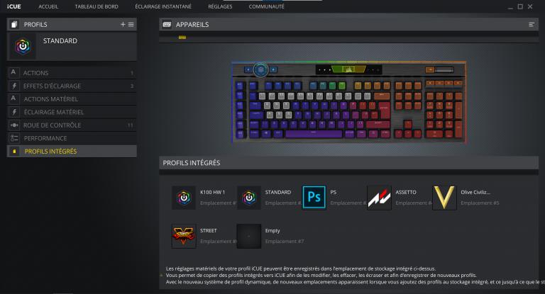 Test du clavier Corsair K100 RGB : Qualité d'or à prix d'or