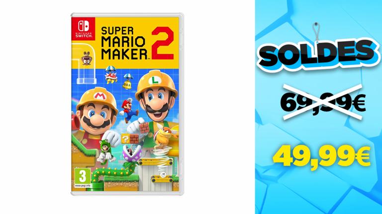 Soldes Nintendo : Super Mario Maker 2 en réduction à -29%