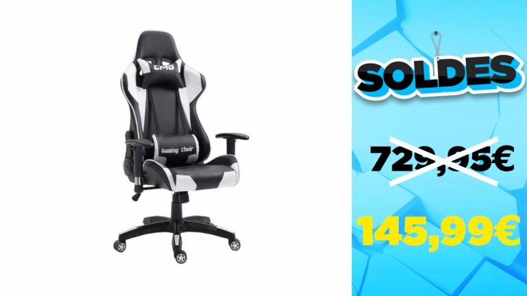 Soldes d'hiver 2021 : -583€ sur une chaise de bureau gaming